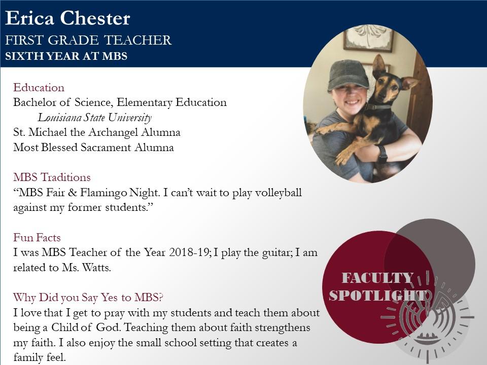 Faculty Spotlight - Erica Chester