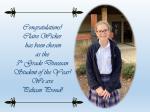 Congratulations Claire Wicker!