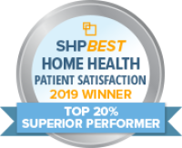 """Nursing Specialties Home Health has earned the 2019 SHPBest """"Superior Performer"""" Patient Satisfaction Award"""