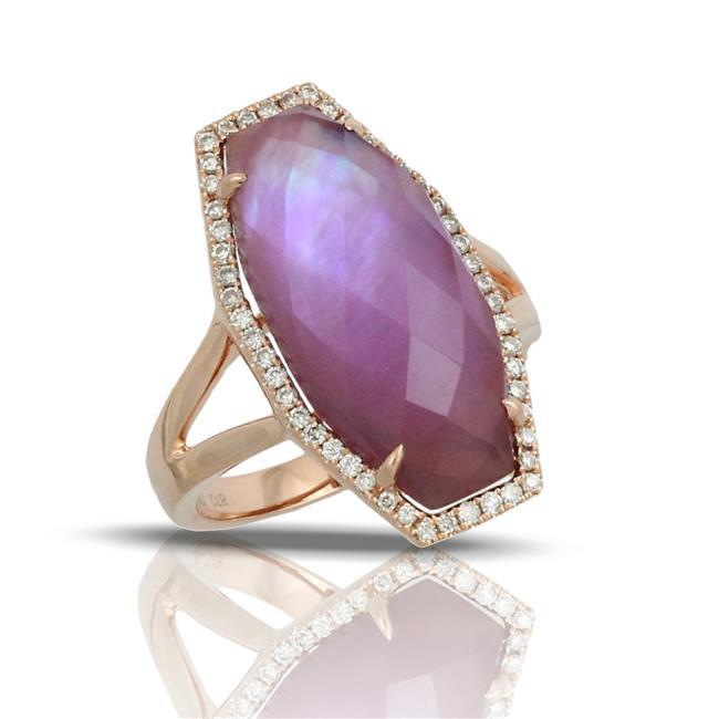 Amethyst and Mother of Pearl Ring - Antons Fine Jewelry ...