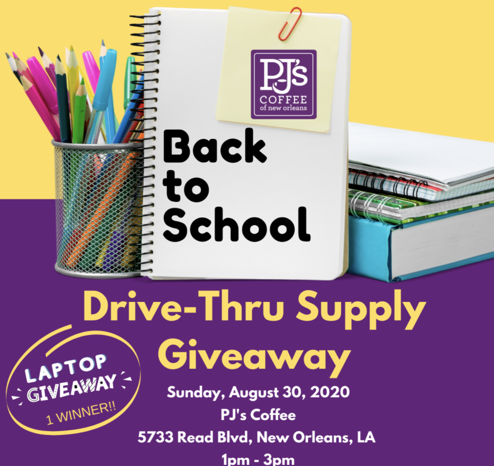 Back 2 School Drive Thru Supply Giveaway - Exercise Your Faith - Making Louisiana Stronger. Mind, Body & Faith