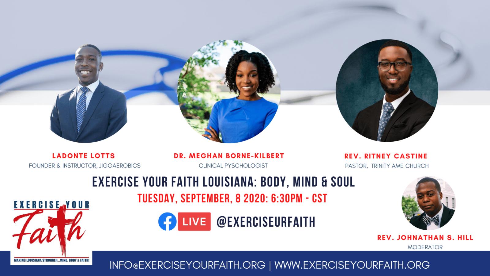 Social - Exercise Your Faith - Making Louisiana Stronger. Mind, Body & Faith