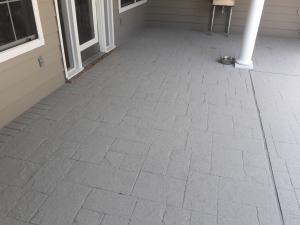 Spraymark System Over Stamped Concrete