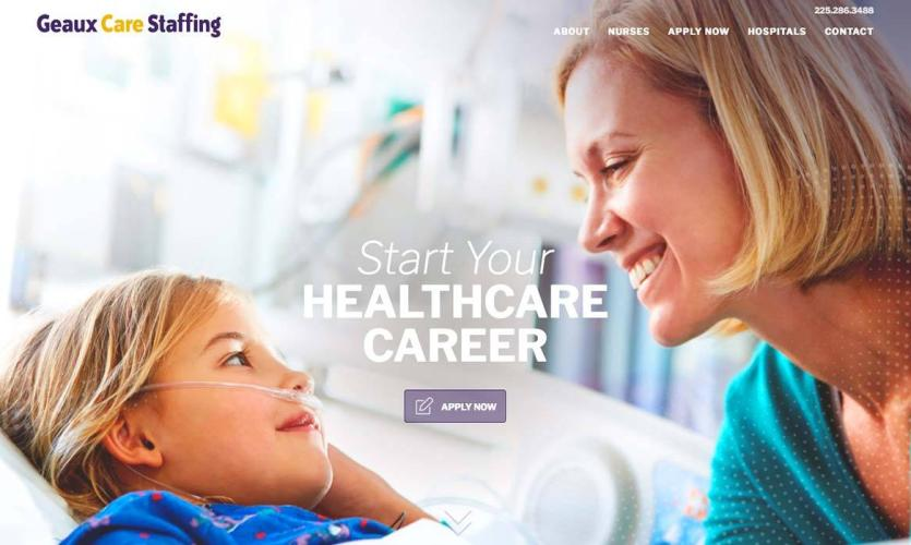 geaux_care_staffing Website Home