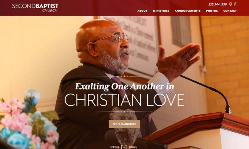 second_baptist Website Home
