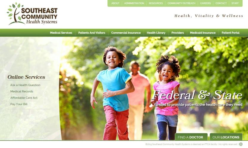 southeast_com_health Website Home