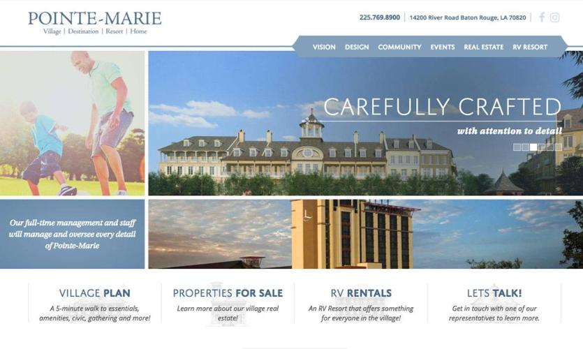pointe-marie Website Home