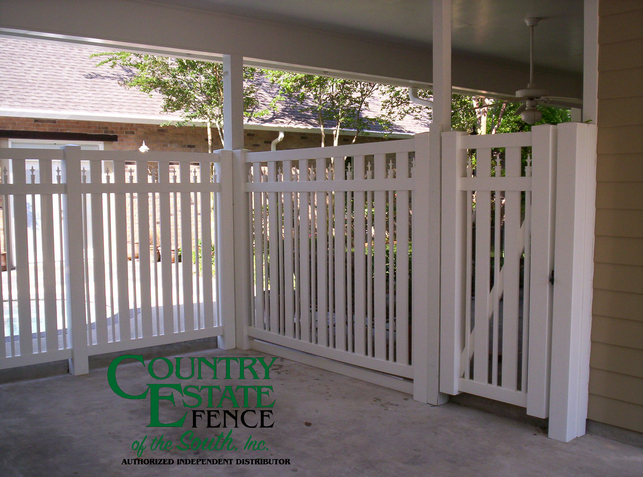 Carport Enclosures - Country Estate Fence of The South - Vinyl & Aluminum Fencing
