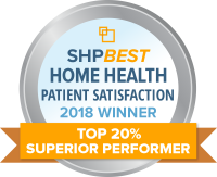 "Nursing Specialties Home Health has earned the 2018 SHPBest ""Superior Performer"" Patient Satisfaction Award"
