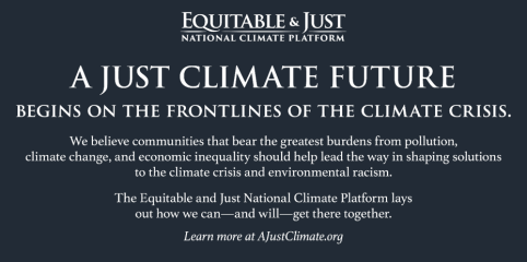 Equitable and Just National Climate Platform
