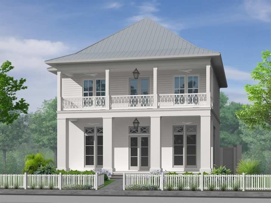 /The Breaux Bridge - House and Cottage Plans