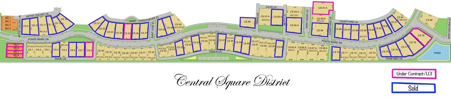 PM Central Square available lots 72018