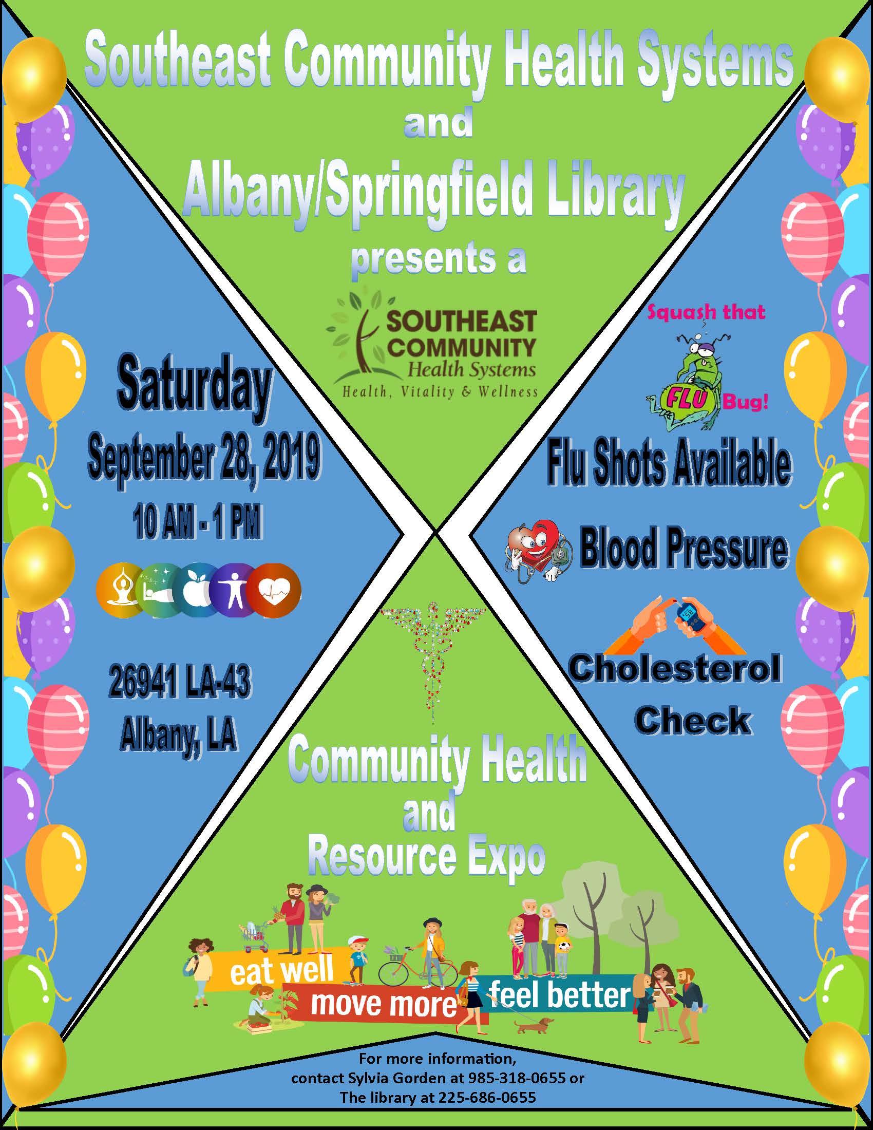 SCHS-Albany Springfield Library Health Expo.
