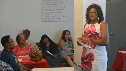 Dr Wright speak to Africatown Community