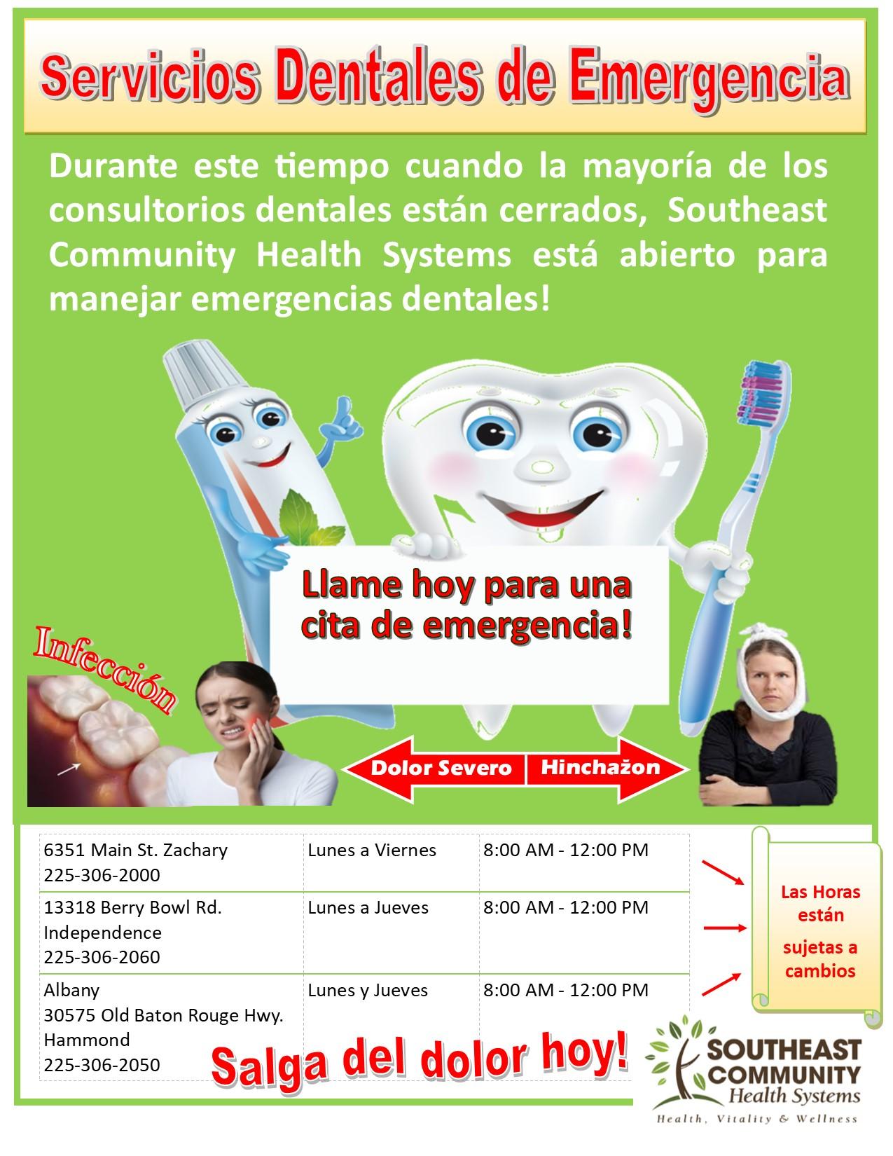SCHS_COVID-19 Dental Flyer spanish_4-02-2020
