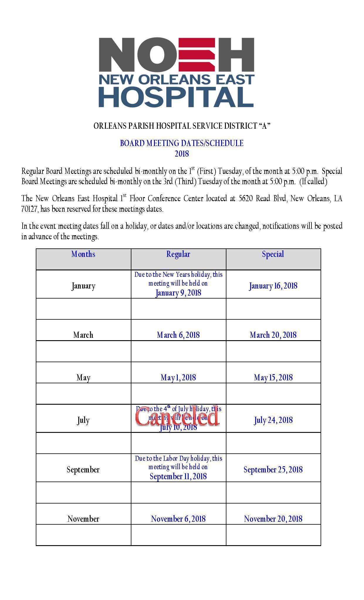 2018-HOSPITAL-BOARD-MEETINGS-MONTHLY.PDF