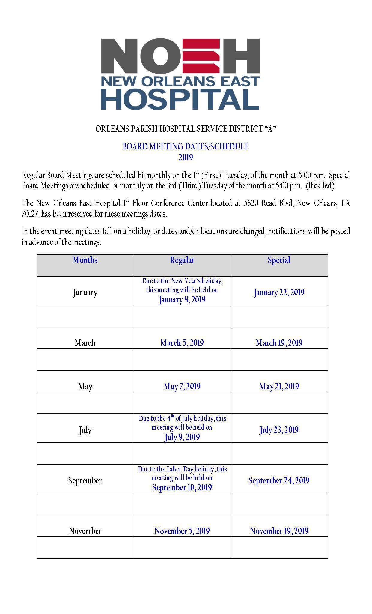 2019-HOSPITAL-BOARD-MEETING-SCHEDULE-BI MONTHLY.PDF