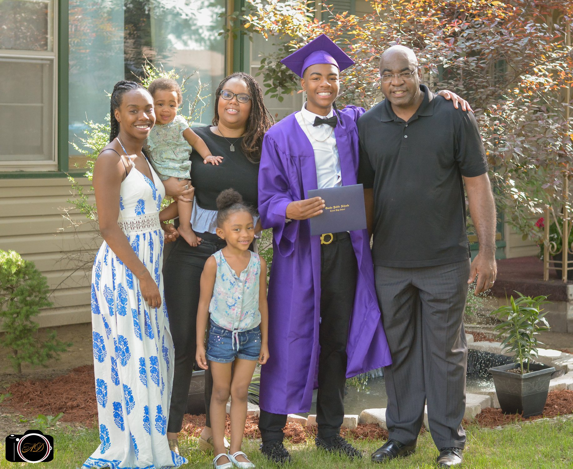 Terrence (far right) and his family