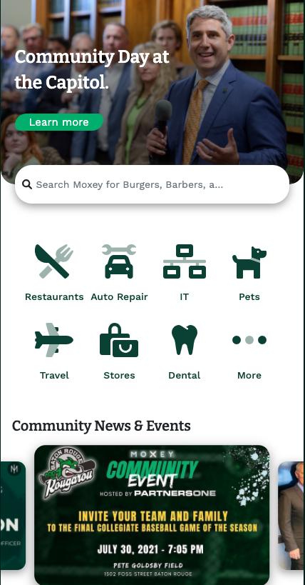 Mobile Web App Screen Shot