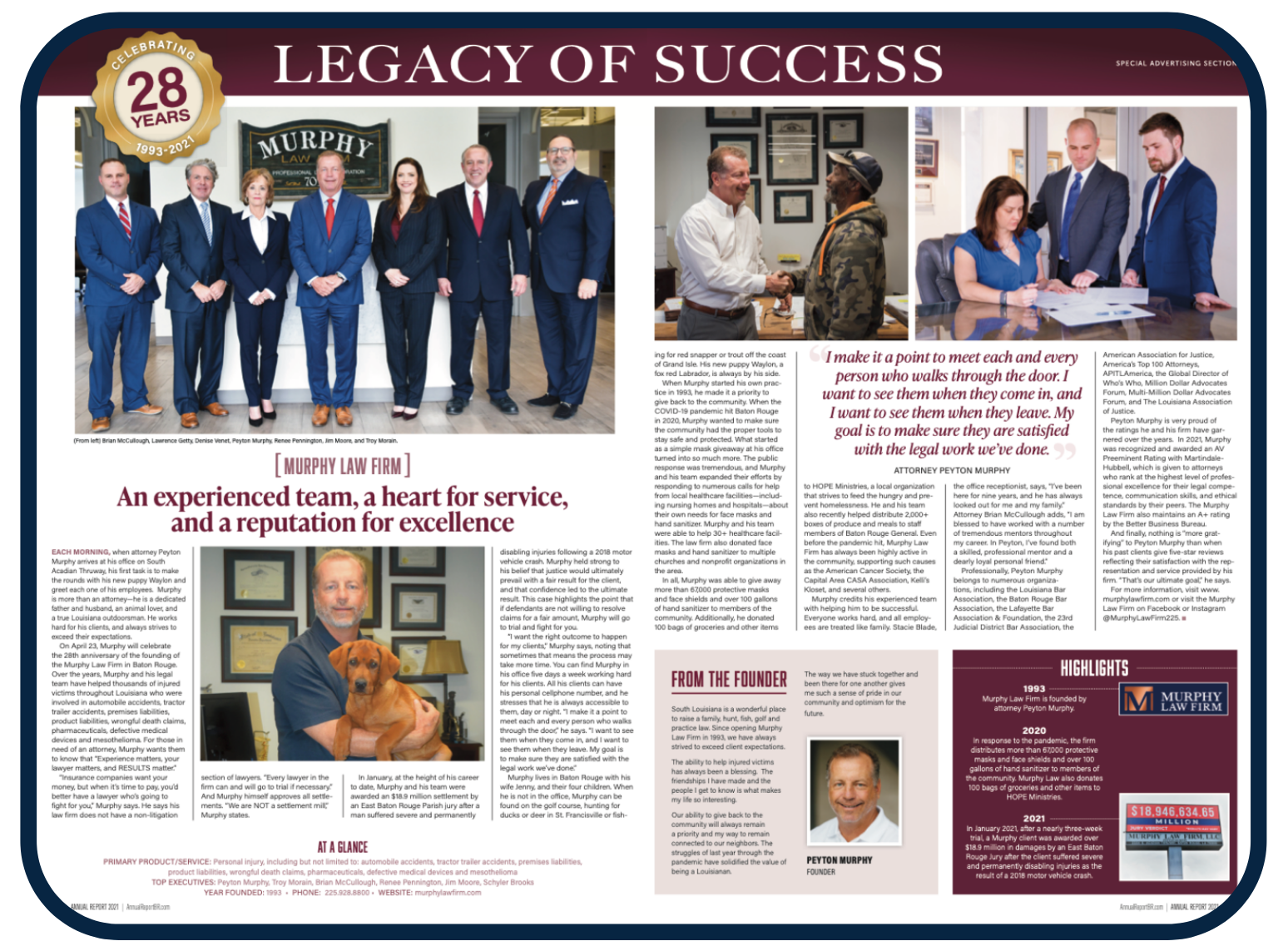 Murphy Law Firm's Legal Legacy of Success